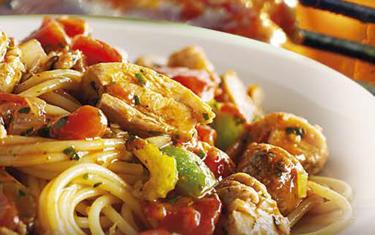 Spaghetti au basilic