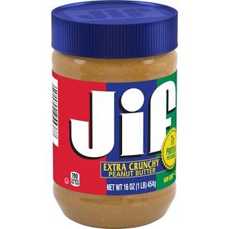 JIF extra crunchy peanut butter - 454g