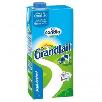 Lait demi-écrémé GranLait - 1L