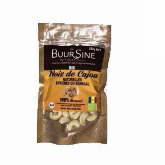 Noix de cajou naturelles entières du Sénégal BIO BuurSine - 150g