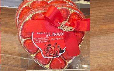 Boîte de Chocolat en Coeur (Rouge)
