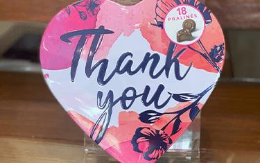 Boîte de Chocolat en Coeur (Thank You)