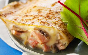 Crepes jambon fromage