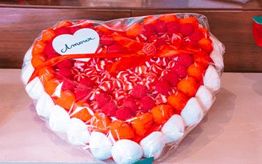 Gâteau de bonbon en Coeur