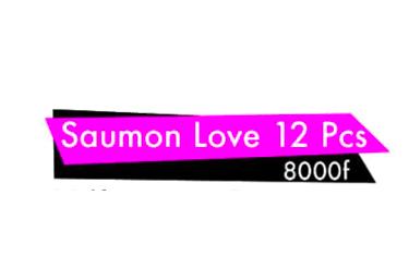 Saumon love 12Pcs