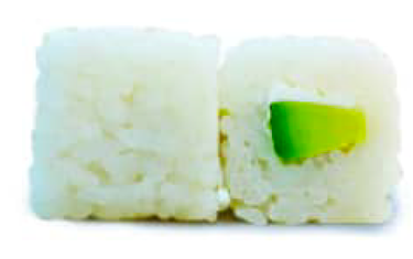 Snow Roll Avocat Concombre Végé X6Pcs