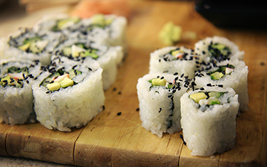 Sushi Vegetarien Avocado Roll fromage 4Pcs